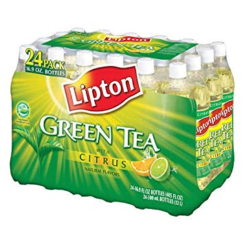 Lipton Green Tea with Citrus - 24/16.9oz bottles - CASE PACK OF 4