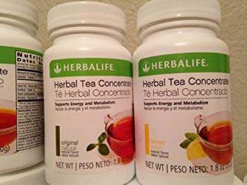 Two (2) Herbalife Herbal Concentrate Tea Lemon 1.8oz - (Save Now with This Pack of 2)