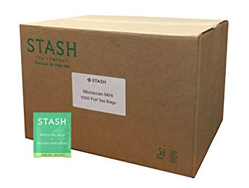 Stash Tea Moroccan Mint Green Tea 1000 Tea Bags in 7.21 Pound Box, Tea Bags Individually Wrapped in...