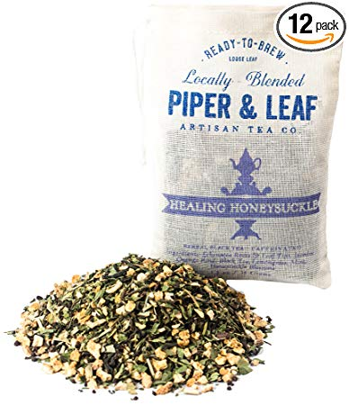 Piper and Leaf Tea Co Healing Honeysuckle, 35 Gram (Pack of 12)